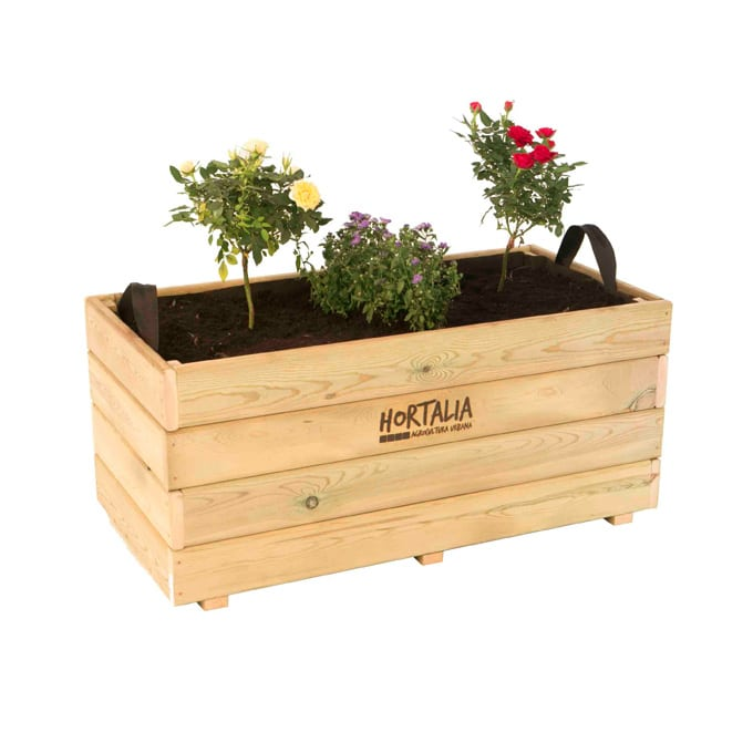 Maceta jardinera madera ghio 140l gardeneas - Maceta de madera ...